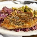 Apple Cider Pork with Red Cabbage and Oak Aged Apple Cider #winePW 5
