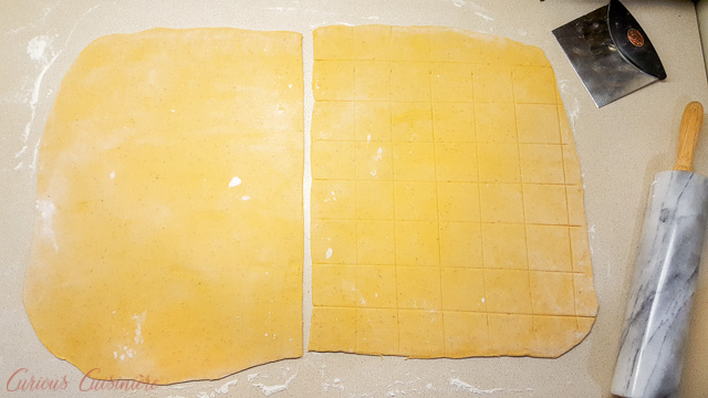 Making Ravioli Step By Step 1 Rolled and Cut Dough