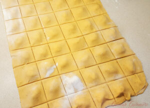 Making Ravioli Step By Step 3 Cover and Cut