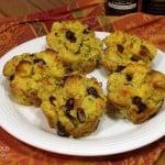 Cranberry Cornbread Stuffing Muffins