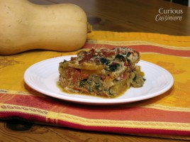 Noodleless Butternut Squash Lasagna from Curious Cuisiniere