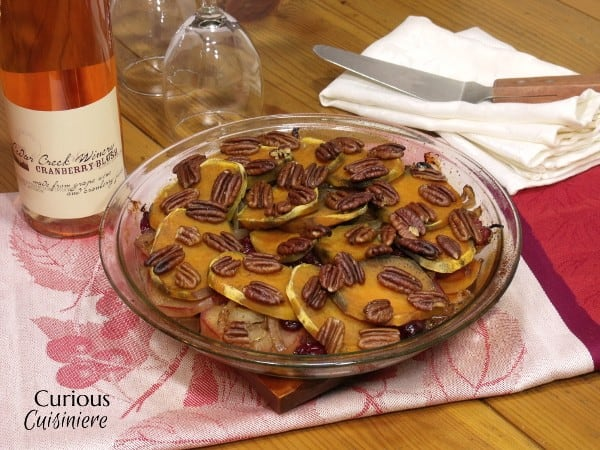 Layered Sweet Potato and Apple Bake with Cranberry Blush #winePW 6