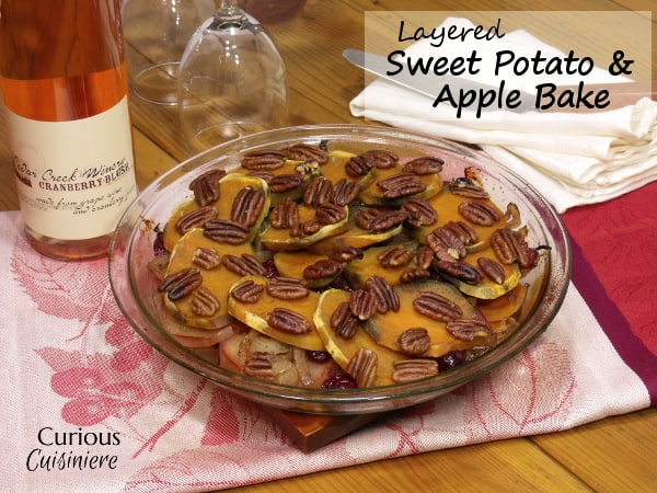 Layered Sweet Potato and Apple Bake from Curious Cuisiniere