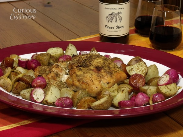 Herb Roasted Turkey Breast with Root Vegetables from Curious Cuisiniere