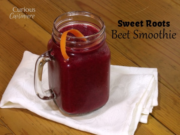 Sweet Roots Beet Smoothie from Curious Cuisiniere