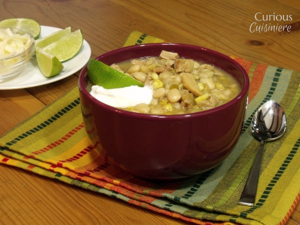 Turkey White Chili from Curious Cuisiniere