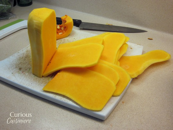 """Butternut Squash 'Noodles"""" from Curious Cuisiniere"""