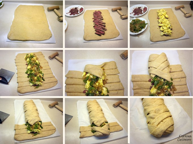 Breakfast Braid How To Template from Curious Cuisiniere