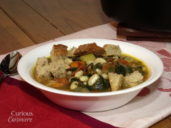 Ribollita (Tuscan Vegetable Stew) from Curious Cuisiniere