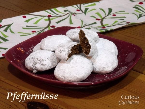 Pfeffernüsse - German Spice Cookies from Curious Cuisiniere