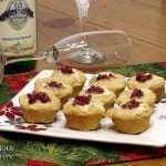 Cranberry Brie Biscuit Bites and Sparkling Muscat Wine Pairing