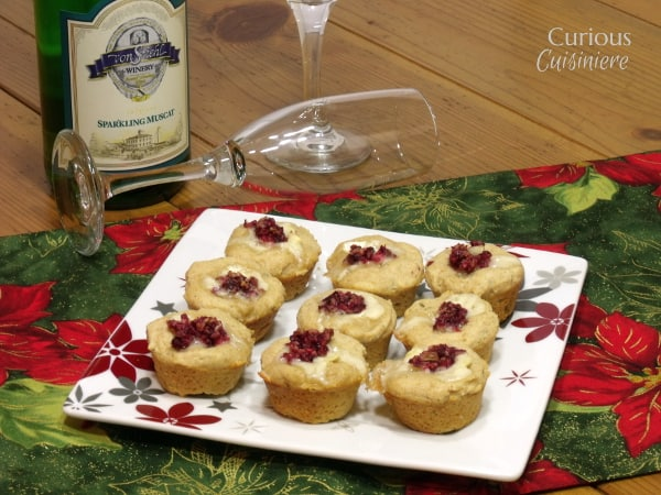 Cranberry Brie Bites and Sparkling Wine Appetizer Pairings from Curious Cuisiniere