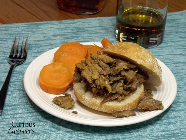 Apple Bourbon Pulled Pork Sliders from Curious Cuisiniere #SundaySupper