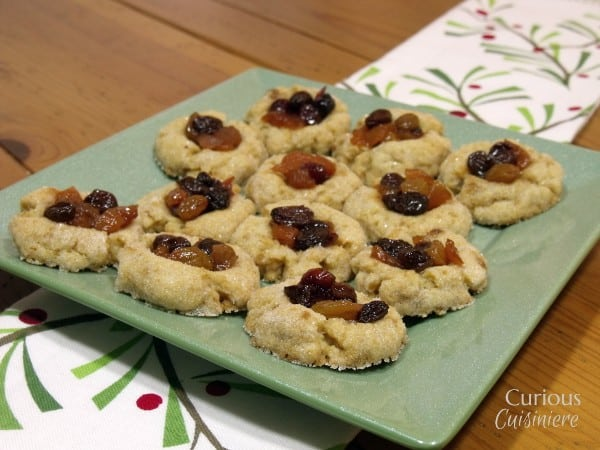 Thumbprint Mincemeat Cookies