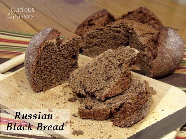Russian Black Bread from Curious Cuisiniere #sundaysupper