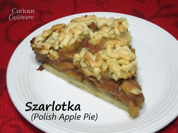 Szarlotka (Polish Apple Pie) from Curious Cuisiniere