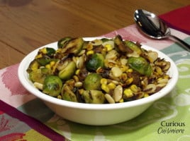 Brussels Sprout Succotash from Curious Cuisiniere