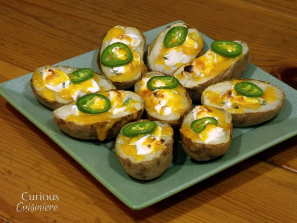 Jalapeno Popper Potato Skins from Curious Cuisiniere