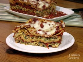 No-Boil Mushroom and Spinach Lasagna from Curious Cuisiiniere