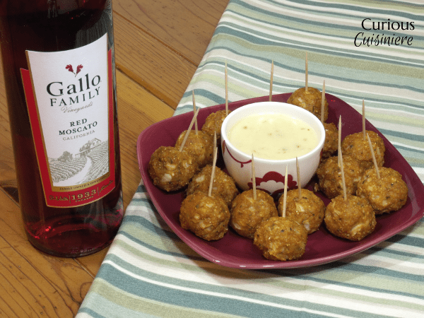 Mexican Chicken Meatballs with Queso from Curious Cuisiniere #SundaySupper
