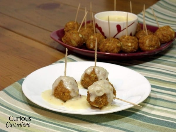 Mexican Chicken Meatballs with Queso