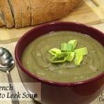French Potato Leek Soup (Crock Pot) #SundaySupper