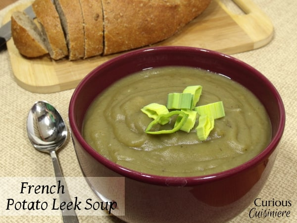 French Potato Leek Soup from Curious Cuisiniere #SundaySupper