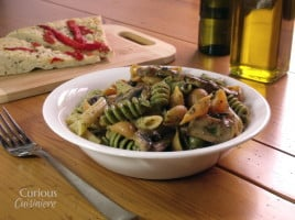 Herby Mushroom Pasta Salad from Curious Cuisiniere