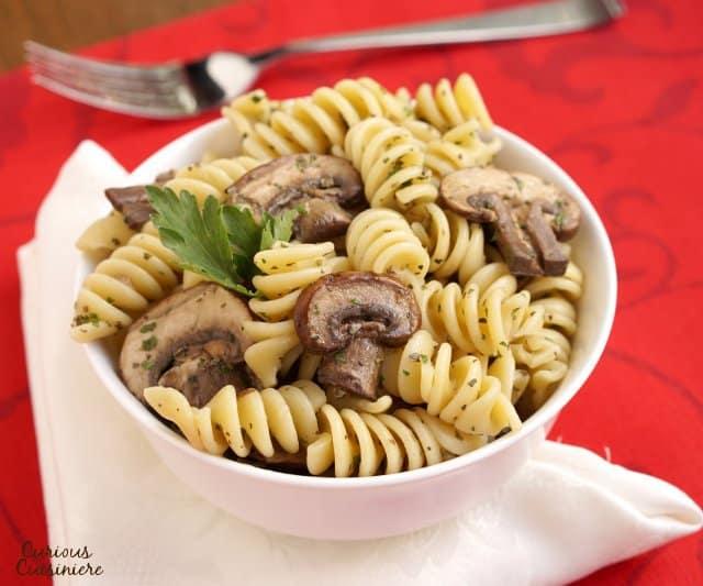 Herby Mushroom Pasta Salad Curious Cuisiniere