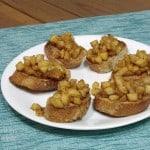 Spiced Apple Bruschetta #TripleSBites