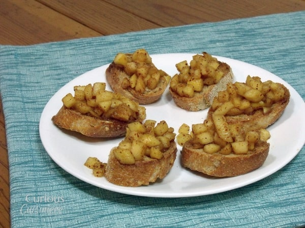 Spiced Apple Bruschetta from Curious Cuisiniere