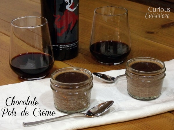 Chocolate Pots de Crème from Curious Cuisiniere