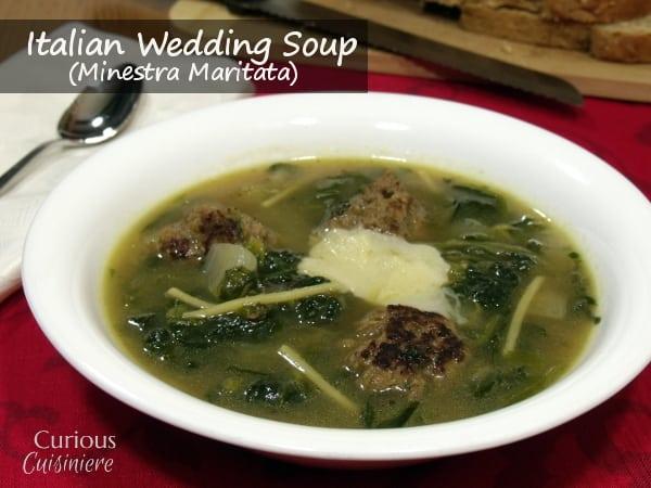 Easy Italian Wedding Soup (Minestra Maritata) from Curious Cuisiniere