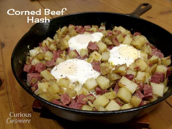 Corned Beef Hash is a hearty way to start off your day, and the perfect, simple use for leftover corned beef. | www.CuriousCuisiniere.com