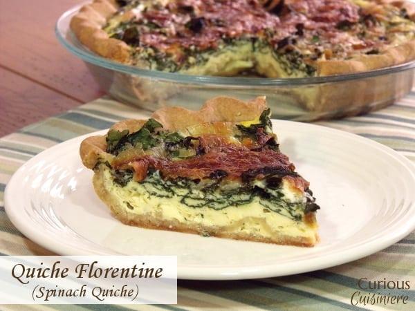 Quiche Florentine Spinach Quiche Curious Cuisiniere