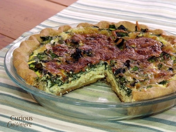 Quiche Florentine (Spinach Quiche) from Curious Cuisiniere