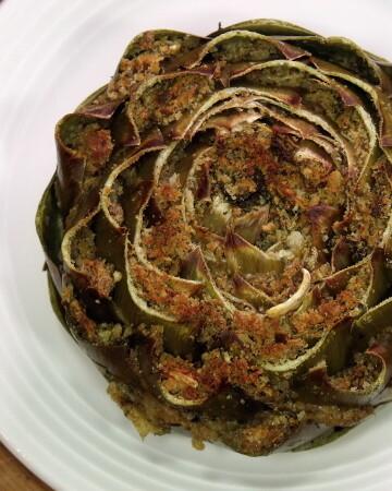 Italian Stuffed Artichokes from Curious Cuisiniere