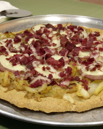 Corned Beef and Cabbage Pizza from Curious Cuisiniere