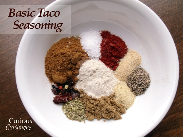 Taco Seasoning from Curious Cuisiniere
