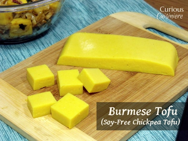 Burmese Tofu (Soy Free Chickpea Tofu) from Curious Cuisiniere