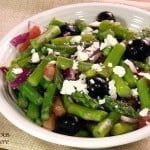 Greek Style Asparagus Salad #SundaySupper