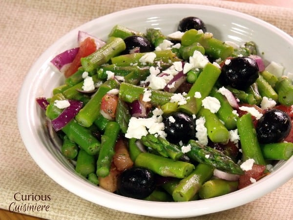 Greek Style Asparagus Salad from Curious Cuisiniere