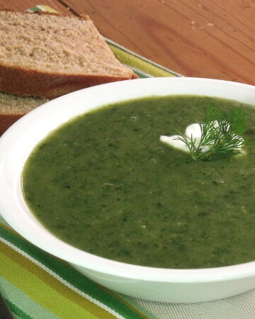 German Seven Herb Soup from Curious Cuisiniere