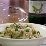 Spring Pea Risotto and Picpoul de Pinet #WineWP