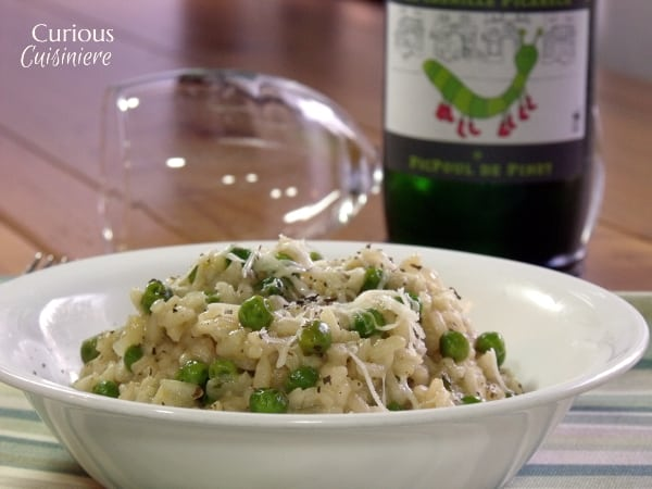 Spring Pea Risotto from Curious Cuisiniere