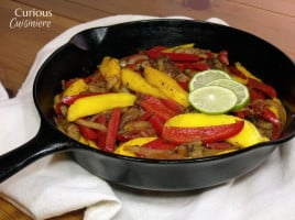 Mango Lime Fajitas from Curious Cuisineire
