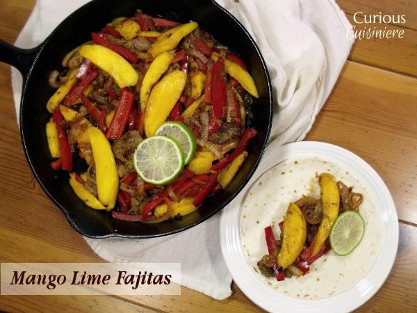Mango Lime Fajitas from Curious Cuisineire