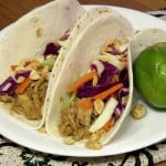 Thai Peanut Chicken Tacos #WeekdaySupper