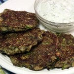 Turkish Zucchini Fritters with Yogurt Cacik