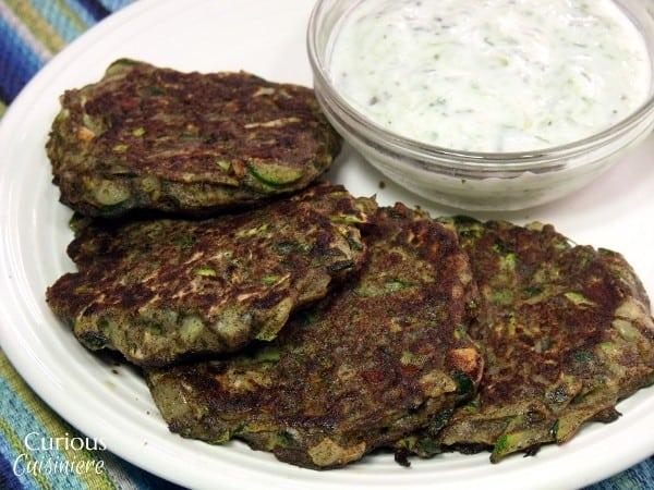 Turkish Zucchini Fritters with Yogurt Cacik